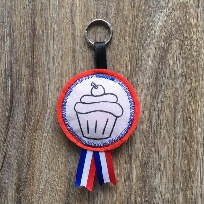 cupcake, sleutelhanger, superleukefeestjes, traktatie,