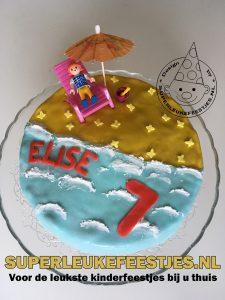 strand beach taart cake superleukefeestjes