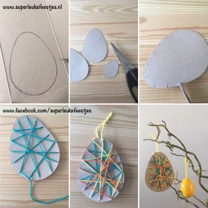 paasversiering, paastak, knutsel, pasen, paasei, zelf maken, DIY, superleukefeestjes