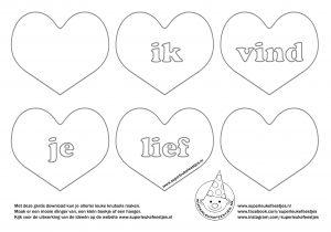 Valentijnsdag, knutsel, kinderen, hartjes, liefde,