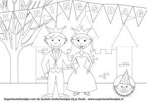 koningsdag kleurplaat superleukefeestjes