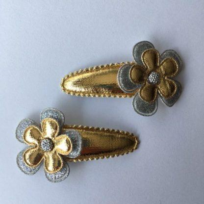 haarspeldje, haarclipje, clipjes, haar, speldjes, goud, zilver, bloemen,