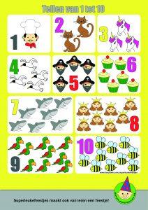 gratis poster leren tellen